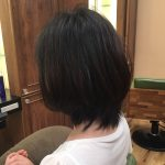 大人可愛いシルエットの髪型